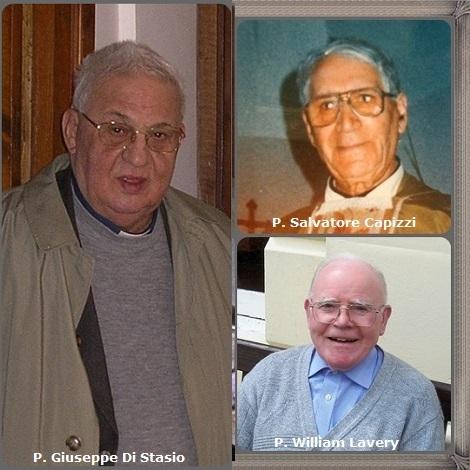 Tra i 42 defunti di oggi 3 marzo, di cui 4 italiani l'immagine mostra tre Redentoristi: gli italiani P. Salvatore Capizzi (1912-1997), P. Giuseppe Di Stasio (1929-2010) e l'irlandese William Lavery (1931-2011).
