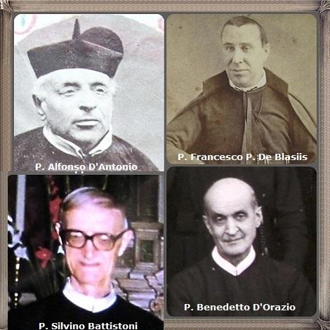 Tra i 41 defunti di oggi 4 marzo, di cui 8 italiani l'immagine mostra 4 Redentoristi italiani: P. Alfonso D'Antonio (1817-1895), P. Francesco P. Giuseppe De Blasiis (1833-1895); P. Benedetto D'Orazio (1881-1975) e P. Silvino Battistoni (1918-1999).
