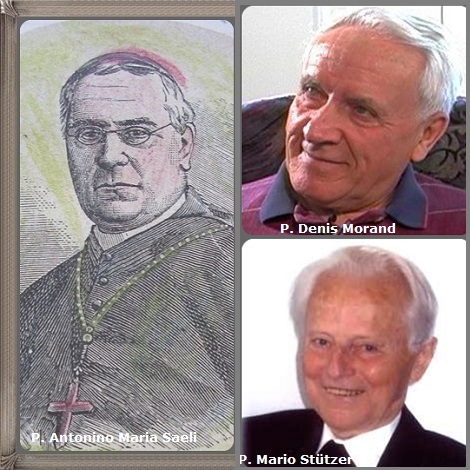 Tra i 34 defunti di oggi 5 marzo, di cui 7 italiani l'immagine mostra 3 Redentoristi: l'italiano P. Antonino Maria Saeli (1833-1900) vescovo di Mazara del Vallo (Sicilia), il canadese P. Denis Morand (1933-2007) e il tedesco P. Mario Stützer (1921-2009).