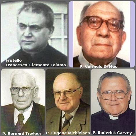 Tra i 55 defunti di oggi 8 marzo, di cui 6 italiani l'immagine mostra 5 Redentoristi: gli italiani Fratello Francesco-Clemente Talamo (1855-1926); P. Carmelo Di Meo (1902-1991); gli olandesi P. Bernard Tresoor (1909-2004) e P. Eugene Michielsen (1920-2010) e l'americano P. Roderick Garvey (1923-2013).