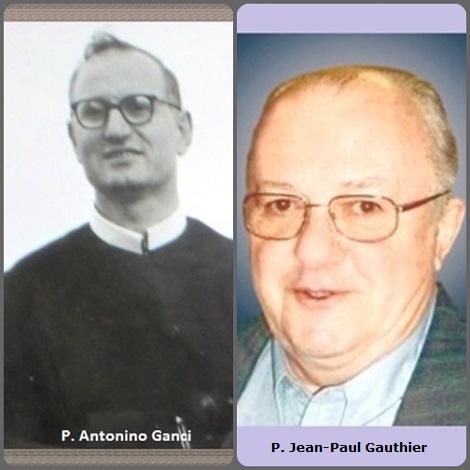 Tra i 34 defunti di oggi, di cui 6 italiani l'immagine mostra due Redentoristi: l'italiano P. Antonino Ganci (1914-1990), siciliano e il canadese P. Jean-Paul Gauthier (1932-2011).