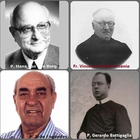 Tra i 32 defunti di oggi 29 maggio, di cui 3 italiani l'immagine mostra 4 Redentoristi: gli italiani Fratello Vincenzo-Vito D'Antonio (1900-1976) e P. Gerardo Battigaglia (1926-1977); l'olandese P. Hans van den Berg (1912-1994) e il brasiliano P. João Fagundes Hauck (1922-2009).