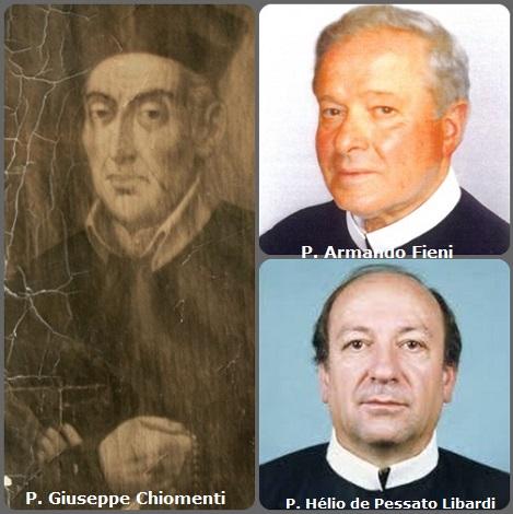 Tra i 24 defunti di oggi 30 maggio, di cui 3 italiani l'immagine mostra tre Redentoristi: gli italiani P. Giuseppe Chiomenti (1772-1847) e P. Armando Fieni (1923-2008) e il brasiliano P. Hélio de Pessato Libardi (1941-2011).