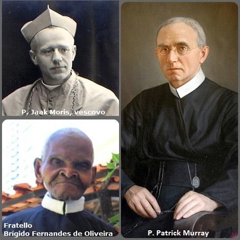Seconda immagine = il belga P. Jaak (Giacomo) Moris (1876-1957) Vescovo di Roseau nelle Antille, l'irlandese P. Patrick Murray (1865-1959) che fu Rettore Maggiore dal 1909 al 1947 e il fratello brasiliano Brígido Fernandes de Oliveira (1917-2012).
