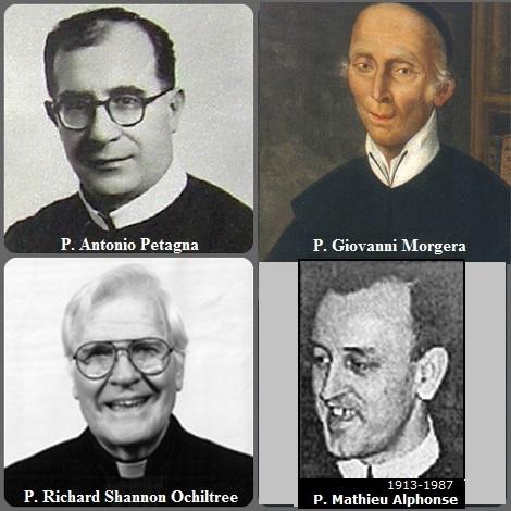Tra i 33 defunti di oggi 9 luglio, di cui 3 italiani l'immagine mostra 4 Redentoristi: gli italiani P. Giovanni Morgera (1751-1809) e P. Antonio Petagna (1911-1966); il canadese P. Alphonse-Marie Mathieu (1913-1987) e l'americano P. Richard Shannon Ochiltree (927-2011).