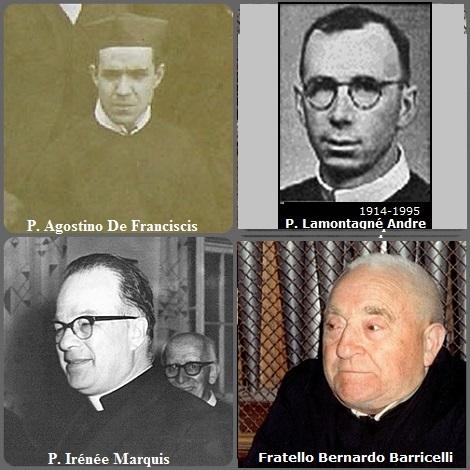 Tra i 42 defunti di oggi 27 luglio, di cui 5 italiani l'immagine mostra 4 Redentoristi: gli italiani P. Agostino De Franciscis (1865-1937) e fratello Giovanni-Bernardo Barricelli (1912-1998); i canadesi P. Irénée Marquis (1916-1970) e P. André Lamontagne (1914-1995).