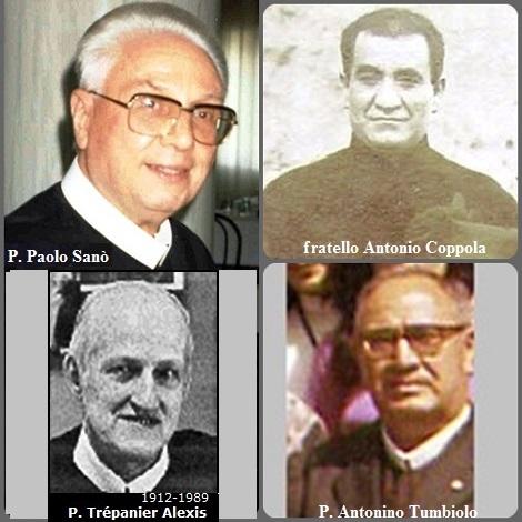 Tra i 38 defunti di oggi 29 luglio, di cui 5 italiani l'immagine mostra 4 Redentoristi: gli italiani P. Paolo Sanò (1921-2002); fratello Antonio Coppola (1861-1933) e P. Antonino Tumbiolo (1913-1995) e il canadese P. Alexis Trépanier (1912-1989).