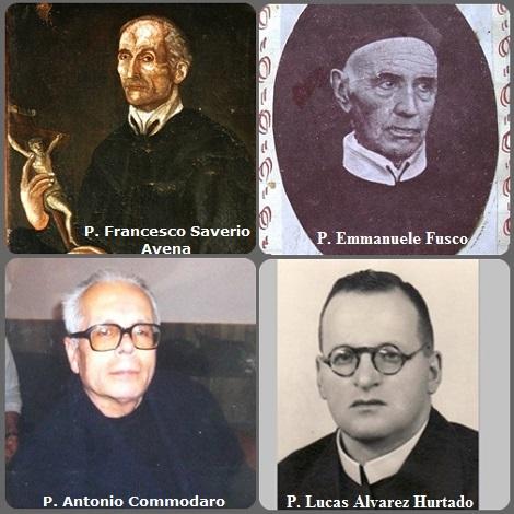 Tra i 59 defunti di oggi 6 agosto, di cui 6 italiani sono disponibili due immagini- Prima immagine: 4 Redentoristi: gli italiani P. Francesco Saverio Avena (1747-1816), P. Emmanuele Fusco (1816-1903) e P. Antonio Commodaro (1935-2013) e lo spagnolo P. Lucas Alvarez Hurtado (1916-2010).