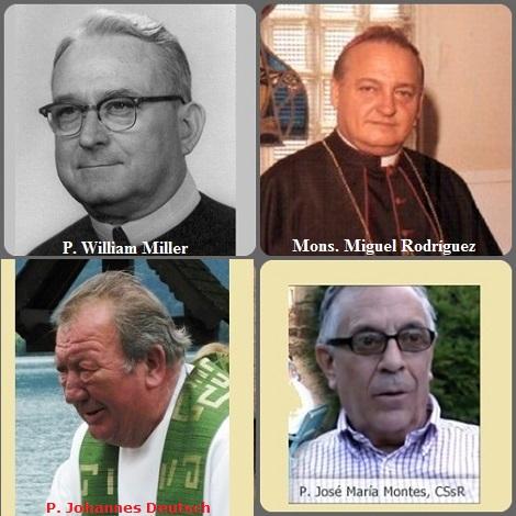 Seconda immagine dei defunti del 13 agosto: gli americani P. William Alphonsus Miller (1896-1972) e Mons. Miguel Rodríguez Rodríguez (1931-2001) vescovo di Arecibo, Porto Rico; il danese P. Johann Deutsch (1935-2006) e lo spagnolo P. José María Montes Palomino (1940-2011).