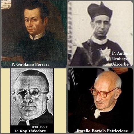 Tra i 30 defunti di oggi 23 agosto, di cui 2 italiani l'immagine mostra 4 Redentoristi: gli italiani P. Geronimo (Girolamo) Ferrara (1715-1767), fratello Giuseppe-Bartolo Petriccione (1905-1994); il canadese P. Théodose Roy (1898-1991) e lo spagnolo P. Antonio Urabayen Aizcorbe (1882-1931).