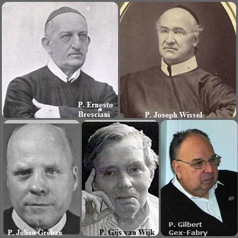 Tra i 32 defunti di oggi 7 settembre, di cui 4 italiani, l'immagine mostra 5 Redentoristi: l'italiano P. Ernesto Bresciani (1838-1919); il bavarese P. Joseph Wissel (1830-1912) emigrato in USA: l'americano P. Julian Grehan (1909-1975) emigrato in USA; l'olandese P. Gijs van Wijk (1936-2010) e lo svizzero P. Gilbert Gex-Fabry (1838-2013).