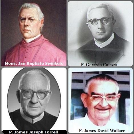 Tra i 38 defunti di oggi 11 settembre, di cui 2 italiani, l'immagine mostra 4 Redentoristi: l'olandese Mons. Jan Baptiste Swinkels (1810-1875) Vicario Apostolico del Suriname; l'italiano P. Gerardo Caiazza (1903-1979), l'australiano P. James David Wallace (1922-2011) e il canadese.