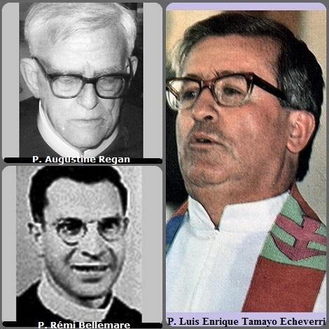 Tra i 25 defunti di oggi 15 settembre, di cui 2 italiani, l'immagine mostra 3 Redentoristi: l'australiano P. Augustine Regan (1909-1992), il colombiano P. Luis Enrique Tamayo Echeverri (1938-1995) e il canadese Rémi Bellemare (1909-1999).