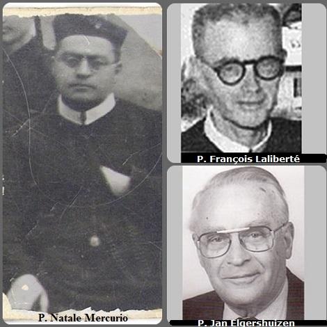 Tra i 29 defunti di oggi 16 settembre, di cui 3 italiani, l'immagine mostra 3 Redentoristi: l'italiano P. Natale Mercurio (1883-1934). Il canadese P. François Laliberté (1904-1988) e l'olandese P. Jan Elgershuizen (1917-2003).