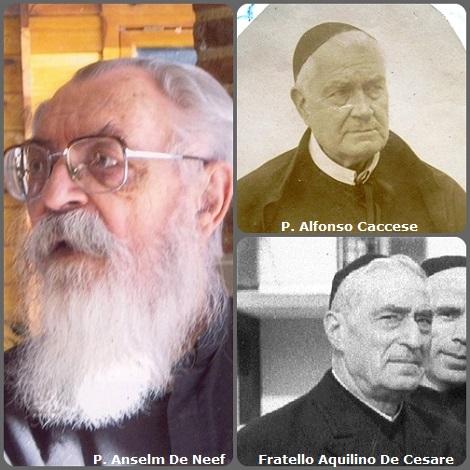Tra i 31 defunti di oggi 27 settembre, di cui 6 italiani, l'immagine mostra 3 Redentoristi: gli italiani P. Alfonso Caccese (1819-1901) e Fratello Aquilino De Cesare (1892-1982) e il belga P. Anselm De Neef (1924-2012).