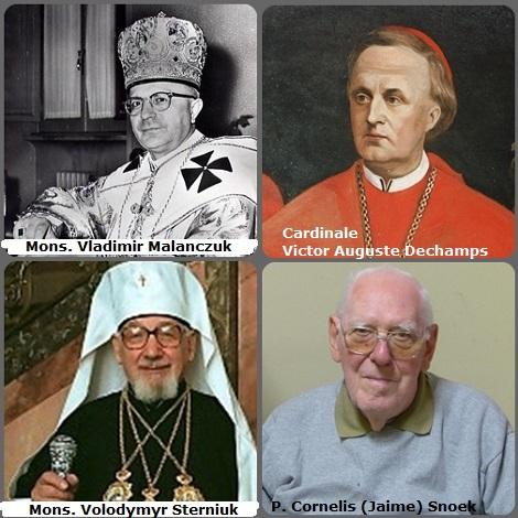 La seconda immagine mostra 4 Redentoristi: il cardinale belga Victor Auguste Dechamps (1810-1883); il vescovo Vladimir Malanczuk, Canada (1904-1990) e il vescovo Volodymyr Sterniuk, (1907-1997) e l'olandese P. Cornelis (Jaime) Snoek (1920-2013).