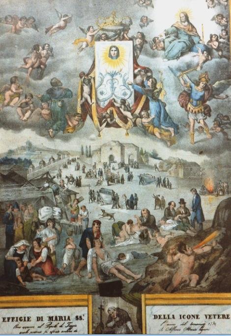 L'Icone Vetera, venerata nella cattedrale di Foggia e nella provincia, richiamava folle di pellegrini e devoti; tra questi vi fu anche S. Alfonso che ebbe la dolce estasi con visione, testimoniata anche dal P. Garzilli che all'epoca era Canonico della Cattedrale.