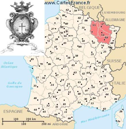 La Regione della Lorraine, ora francese, una volta appartenente alla Germania. I missionari redentoristi vi hanno predicato numerose missioni.