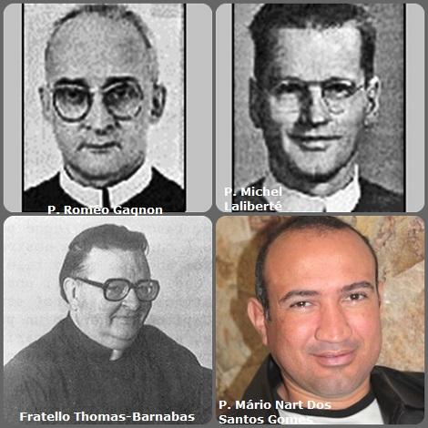 Tra i 27 defunti di oggi 03 ottobre, di cui 3 italiani, l'immagine mostra 4 Redentoristi: il fratello americano Douglas Thomas-Barnabas Hipkins (1931-2004) per anni collaboratore delle CSSR Communicationes; i canadesi P. Roméo Gagnon (1903-1989) e P. Michel Laliberté (1915-2007) e il brasiliano P. Mário Nart Dos Santos Gomes (1976-2013).
