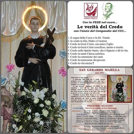 2013 – Tropea, ottobre – La Novena di San Gerardo 2013 è vissuta nel contesto dell'Anno della Fede che si chiude, dell'Anno della promozione della Vocazione Redentorista e della prossima Beatificazione dei Martiri di Cuenca, Spagna (13 ottobre).