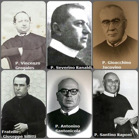 Tra i 48 defunti di oggi 8 ottobre, di cui X italiani, due immagini mostra 9 Redentoristi. Prima immagine: 6 Redentoristi italiani: P. Vincenzo Gregales (1826-1894); P. Severino Ranaldi (1879-1936); P. Gioacchino Jacovino (1874-1954); Fratello Giuseppe Sillitti (1907-1954); P. Antonino Santonicola (1914-1993), P. Santino Raponi (1920-2008).