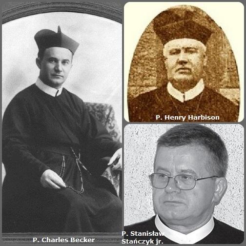 Seconda immagine: 3 Redentoristi: l'irlandese P. Henry Harbison (1820-1888); il Tedesco P. Charles Becker (1871-1927) emigrato in USA; e il polacco P. Stanisław Stańczyk jr.(1954-2012).