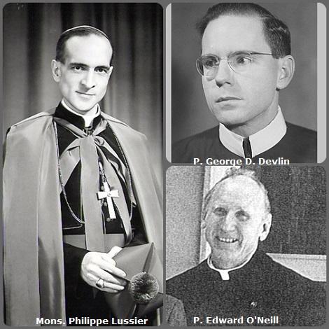 Tra i 37 defunti di oggi 9 ottobre, di cui 2 italiani, l'immagine mostra 3 Redentoristi: l'americano P. George D. Devlin (1912-1963); il canadese Mons. Philippe Lussier (1911-1986), vescovo di Saint Paul in Alberta, Canada, e l'americano P. Edward O'Neill (1903-1991).