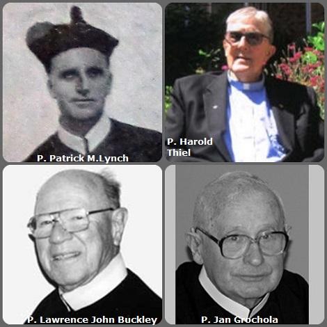Tra i 29 defunti di oggi 11 ottobre, di cui 1 italiano, l'immagine mostra 4 Redentoristi: l'irlandese P. Patrick M.Lynch (1858-1927); l'americano P. Harold Thiel (1930-2006) e P. Lawrence John Buckley (1924-2008); il polacco P. Jan Grochola (1926-2012).