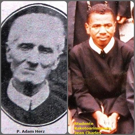 Tra i 30 defunti di oggi 13 ottobre, di cui 3 italiani, l'immagine mostra 2 Redentoristi: P Adam Herz di Nassau, Bahamas (1847-1925) e lo studente del Madagascar Rakotoarimanana Jean Charles (1973-2005).