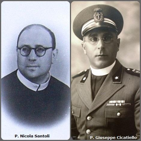 Tra i 36 defunti di oggi 23 ottobre, di cui 2 italiani, due immagini mostrano 6 Redentoristi – Prima immagine 2 redentoristi: gli italiani P. Nicola Santoli (1907-1971) e P. Giuseppe Cicatiello (1898-1987).