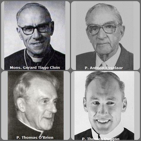 Seconda immagine 4 redentoristi: gli olandesi Mons. Gerard (Tiago) Cloin (1908-1975), vescovo di Barra (do Rio Grande), Baia, Brasile e P. Antoon Esselaar (1914-2001); il canadese Thomas O'Brien (1904-2007) e l'americano P. Thomas Duggan (1921-2008).