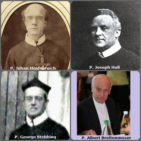 Tra i 29 defunti di oggi 24 ottobre, di cui 4 italiani, l'immagine mostra 4 Redentoristi: il tedesco P. Joahn Heidenreich (1835-1878) emigrato in USA; gli inglesi P. Joseph Hull (1863-1932) e P. George Stebbing (1859-1937) e lo svizzero P. Albert Breitenmoser (1934-2011).
