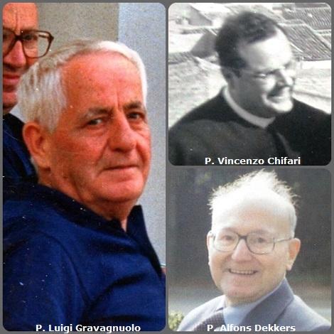 Tra i 32 defunti di oggi 28 ottobre, di cui 3 italiani, l'immagine mostra 4 redentoristi: l'inglese P. Francis Hall (1836-1897); gli italiani P. Vincenzo Chifari (1926-1982) e P. Luigi Gravagnuolo (1917-1998); e l'olandese P. Alfons Dekkers (1924-2005).