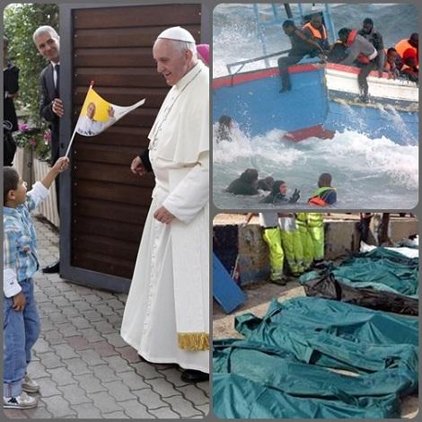 Papa Francesco anche da Assisi ha lanciato il suo grido di dolore per le tragedie che si compiono a danno dei poveri, come a Lampedusa, dove nel naufragio del 3 ottobre sono morte centinaia di naufraghi in cerca di una vita migliore.