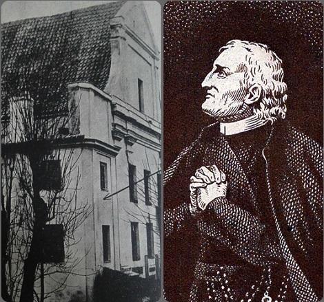 Nicolas Lenoir fu uno dei tre giovani che entrarono al noviziato di Varsavia con il Venerabile Padre Passerat che si vede nell'immagine insieme alla chiesa dei redentoristi in Varsavia.