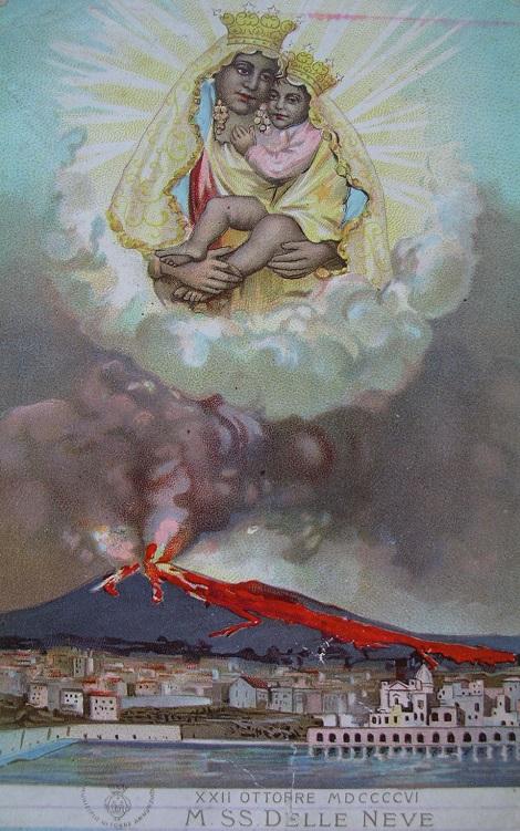 Torre Annunziata, patria di Fratello Michele Ilardo. – La Madonna della Neve protegge la città dalla eruzione del Vesuvio. – L'immagine e la chiesa da sempre sono state visitate dai Missionari Redentoristi.