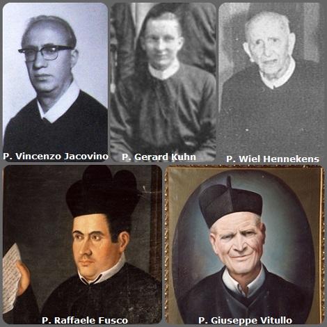 Tra i 32 defunti di oggi 10 novembre, di cui 4 italiani, l'immagine mostra 5 Redentoristi: gli italiani P. Raffaele Fusco (1810-1888); P. Giuseppe Vitullo (1870-1949); P. Vincenzo Jacovino (1920-1972); l'americano P. Gerard Kuhn (1907-1984) e l'olandese P. Wiel Hennekens (1900-1988).