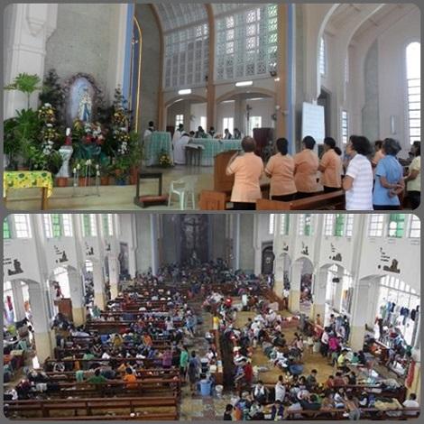 2013 - Tacloban  (Filippine) La chiesa redentorista ha aperto le sue porte per dare rifugio ai disastrati del tifone che ha colpito con inaudita violenza soprattutto questa zona.