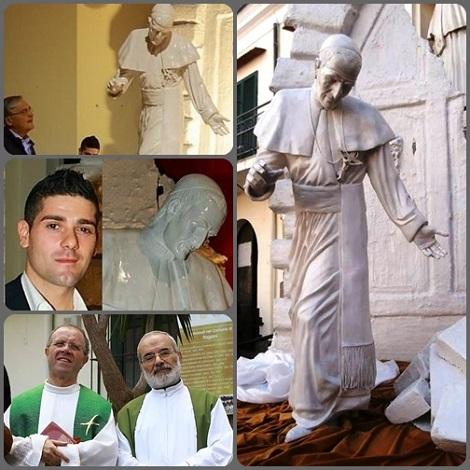 2013 Pagani (SA) - Una nuova statua in onore di Sant'Alfonso a Pagani, opera dell'artista paganese Domenico Striano, è stata collocata in Via Malet, inserita in un percorso religioso teso a rivalutare la città che come Patrono il glorioso Santo.