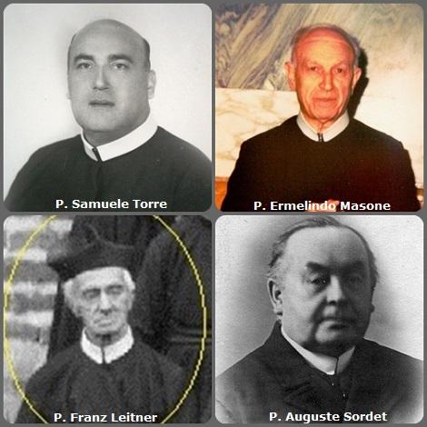Tra i 27 defunti di oggi 18 novembre, di cui 4 italiani, l'immagine mostra 4 Redentoriasti: gli italiani P. Samuele Torre (1913-1981) e P. Ermelindo Masone (1909-1990); l'austriaco P. Franz Leitner (1849-1926) e il francese P. Auguste Sordet (1867-1950).
