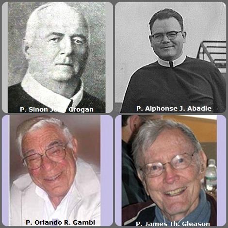Seconda immagine 4 Redentoristi: il canadese P. Sinon John Grogan (1857-1936); l'americano P. Alphonse J. Abadie (1915-1993); il brasiliano P. Orlando R. Gambi (1925-2005) e l'americano P. James Th. Gleason (1923-2011).