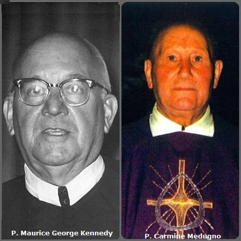Tra i 33 defunti di oggi 26 novembre, di cui 3 italiani, l'immagine mostra 2 Redentoristi: l'americano P. Maurice George Kennedy (1895-1981) e l'italiano P. Carmine Medugno (1924-2001).