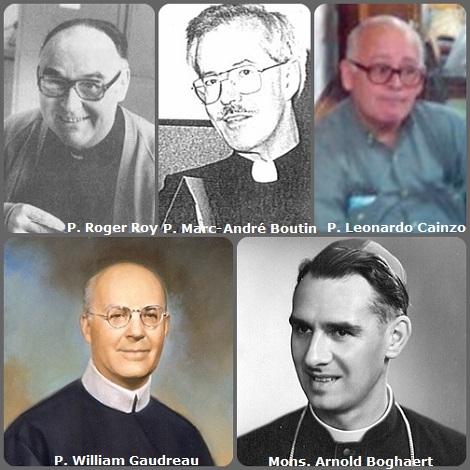 Tra i 37 defunti di oggi 29 novembre, di cui nessun italiano, l'immagine mostra 5 Redentoristi: l'americano P. William Gaudreau (1897-1968) già Rettore Maggiore; il canadese P. Roger Roy (1927-1986); il belga Mons. Arnold Boghaert (1920-1993), vescovo di Roseau, Dominica, (Antilles); il canadese P. Marc-André Boutin (1945-1996); e l'argentino P. Leonardo Cainzo (1945-2005).