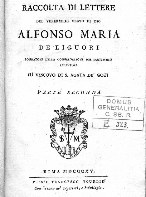 P. Vincenzo Antonio Giattini, redentorista nativo di Menfi in Sicilia, fu il Postulatore della Causa di Beatificazione del Fondatore Alfonso de Liguori, di cui raccolse e pubblicò, nel 1815, le preziose lettere.