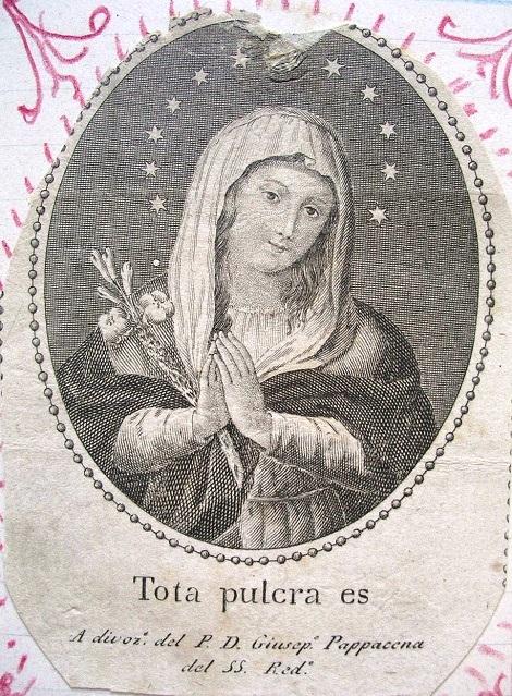 P. Giuseppe Pappacena fu un redentorista nativo di Palma di Nola. Immaginetta stampata a cura del P. Pappacena che fu trovata piegata tra le mani di una bambina morta sepolta in un muro (Schiavone, Biografie I, p.380).