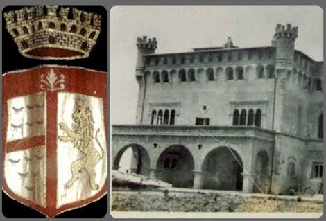 Valva (AV) – Lo stemma e la Villa dei Marchesi Valva. P. Matteo Valva era il VII Marchese di Valva, prima di diventare redentorista.