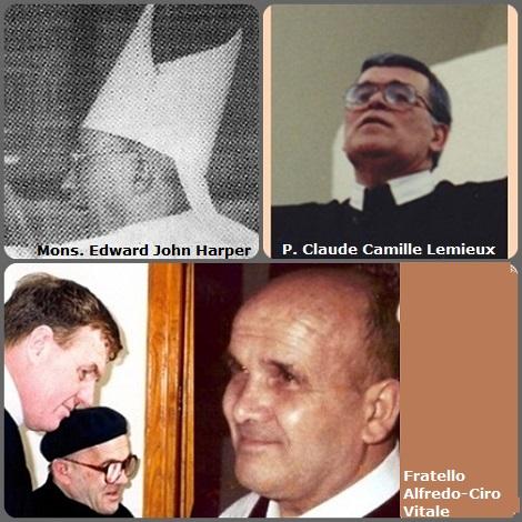 Tra i 41 defunti di oggi 2 dicembre, di cui 2 italiani, l'immagine mostra 3 Redentoristi: l'americano Mons. Edward John Harper (1910-1990) primo vescovo di St. Thomas nelle Virgin Islands (1977-85); il canadese P. Claude Camille Lemieux (1935-2007) e l'italiano fratello Alfredo-Ciro Vitale (1924-2001).