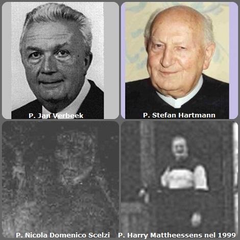 Tra i 30 defunti di oggi 6 dicembre, di cui 5 italiani, l'immagine mostra 4 Redentoristi: l'olandese P. Jan Verbeek (1924-2000); l'austriaco P. Stefan Hartmann (1914-2005) e poi due immagini di qualità scadente, ma di cui non c'è altro disponibile: l'italiano P. Nicola Domenico Scelzi, che aveva un fratello gemello redentorista di nome Nicola (1767-1835) e il belga P. Harry Mattheessens (1953-2004).