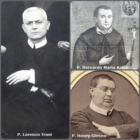 Tra i 55 defunti di oggi 9 dicembre, di cui 7 italiani, l'immagine mostra 3 Redentoristi: gli italiano P. Bernardo Maria Apice (1728-1769) e P. Lorenzo Trani (1876-1958); e l'olandese P. Henry Giesen (1826-1893) emigrato negli USA.