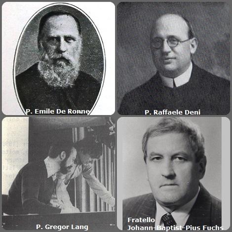 Tra i 46 defunti di oggi 11 dicembre, di cui 3 italiani, l'immagine mostra 4 Redentoristi: il belga P. Emile De Ronne (1867-1933); l'italiano P. Raffaele Deni (1882-1969); il tedesco P. Gregor Lang (1944-1992) e lo svizzweo Fratello Johann-Baptist-Pius Fuchs (1937-1994).